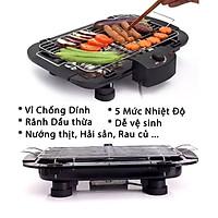 (Loại Tốt) Bếp Vỉ Nướng Điện Không Khói BBG KhoNCC - Electric BarBecue Grill 2000W - KPD-BEPDKK-425 - Hàng Chính Hãng