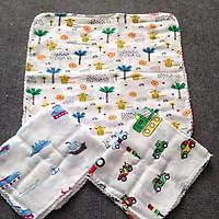 Set 10 khăn sữa có hình họa tiết ngẫu nhiên...