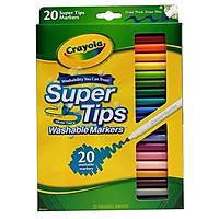 Bút Lông 20 Màu Vẽ Nét Dày, Mảnh(Có Thể Tẩy Rửa Được)-588106