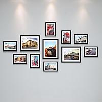 Bộ Khung Ảnh Treo Tường Phong Cách Vẽ Nghệ Thuật Vẻ Đẹp Hà Nội Xưa Tặng Kèm bộ ảnh như hình mẫu, đinh treo tranh và sơ đồ treo PGC276