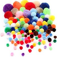 Hạt Bông Pom Pom Đủ Màu Sắc Kích Cỡ - đồ chơi giáo cụ Montessori giáo dục sớm cho bé yêu