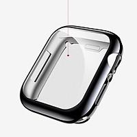 Ốp Case TPU Mạ Chrome & Kính Cường Lực Dẻo Usams cho Apple Watch Series 6 / Apple Watch Series 5/ SE/ 4 Size 40/44mm_ Hàng Chính Hãng