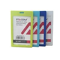 Thẻ Nhựa Đeo Bảng Tên Stacom ID6612 Thẻ Đứng (Bộ 5 thẻ )