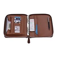 Túi đựng sổ và tài liệu chuyên nghiệp Padfolio bằng da PU với khóa kéo tiện dụng