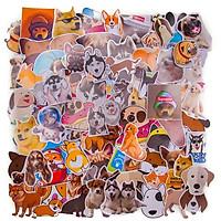 Set 100 sticker hình dán thú cưng - CHÓ DOGS