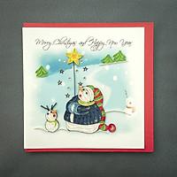 Thiệp Giấy Xoắn Giáng Sinh 15x15 cm - NOEL19GIAAN