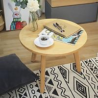 Bàn sofa tròn gỗ