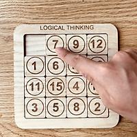 Trò Chơi Giải Đố Ghép Số Luyện Tư Duy Logic Làm Bằng Gỗ Tự Nhiên
