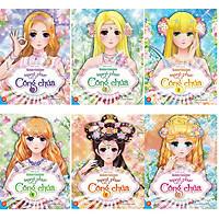 Sách - Dán hình trang phục công chúa Combo bộ 6 tập