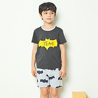 Bộ đồ ngắn tay mặc nhà cotton mịn cho bé trai U3023 - Unifriend Hàn Quốc, Cotton Organic