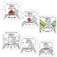 Combo Ehon Nhật Bản NHỮNG MẨU CHUYỆN VỤN VẶT CỦA MARU: Maru Và Hạt Dưa + Maru Một Ngày Xui Xẻo + Maru Quét Nhà + Maru Tập Rửa Bát + Maru Rụng Răng + Maru Đi Vệ Sinh (Bộ 6 cuốn Phát triển trí tuệ 2 - 8 tuổi/ Tặng kèm Bookmark Happy Life)