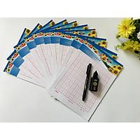 Combo 10 quyển vở luyện viết chữ Hán, chữ Trung Quốc - (không bìa) kèm bút + mực