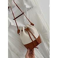 Túi đeo chéo dây rút nữ da PU không thấm nước tiện dụng phong cách Hàn Quốc