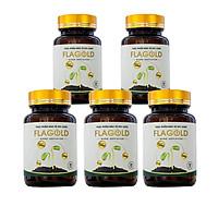Combo 5 hộp Nano mầm đậu nành Flagold - Tăng vòng 1, tăng nội tiết tố nữ