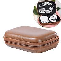 Túi hộp EVA bọc da khung cứng chống sốc đựng phụ kiện điện thoại, tai nghe, bộ sạc điện thoại, pin dự phòng mini (11,5x9x4cm)- Hàng chính hãng
