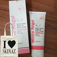 Kem Body White Angel Tone – Up Body Cream Skinaz cao cấp – kem dưỡng trắng da toàn thân cao cấp nhập khẩu 100% từ Hàn Quốc – 200ml - Tặng kèm Túi Xách Thời Trang Cực Xịn