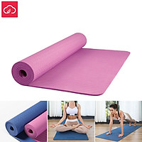 YUNMAI 6mm Double-sided Non-Slip Yoga Mat Soft TPE Gymnastics Fitness Rubber Mats Fitness Shaping Stretching High Elasticity Skin Friendly Training Fitness Equipment