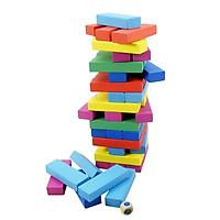 Bộ đồ chơi 48 khối xếp gỗ nhiều màu sắc