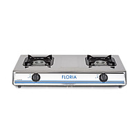 Bếp Gas Inox 2 bếp Floria - ZLN8365 - Hàng chính hãng