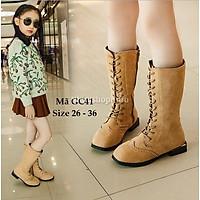 Giày Bốt Bé Gái Da Lộn Kiểu Dáng Hàn Quốc GC41