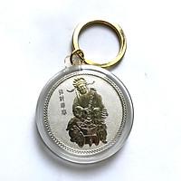 Móc khóa xu Thần Tài màu  bạc phong thủy  May Mắn - TMT COLLECTION - SP000410