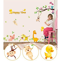 Sticker Decal dán tường - Happy Time - MJ8019