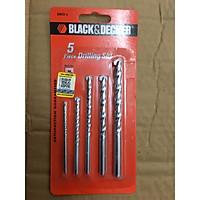 Bộ 5 mũi khoan bê tông black&decker A8032G