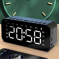 VINETTEAM Loa Bluetooth Mặt Gương Kiêm Đồng Hồ Báo Thức P6 Màn Hình Led Tích Hợp Thẻ SD  FM AUX Đo Nhiệt Độ - Hàng Chính Hãng
