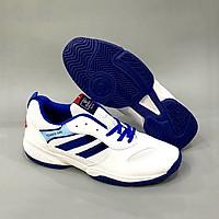 Giày Thể Thao Nam Nữ Chơi Tennis,Chạy Bộ Trắng Sọc Xanh TN046TX