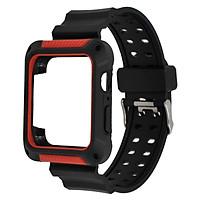 Dây đồng hồ Apple Watch, Dây cao su kèm ốp chống sốc dành cho đồng hồ Apple Watch
