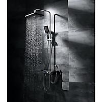 Bộ cây sen tắm nhiệt độ kiêm xịt - Có nút chỉnh nhiệt và LED nhiệt độ - Siêu cấp