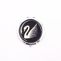 Gương trang điểm cầm tay 2 mặt cao cấp 75mm