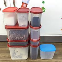 Bộ Hộp Kệ Bếp Tupperware Modular Mate Super Kitchen 9 Hộp Tặng 1 hộp trữ Đông 820ml