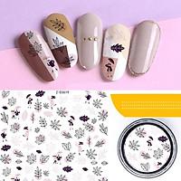 Sticker nails hoa - hình dán móng 3D 3619