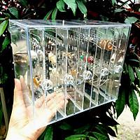 Kệ Đựng BôngTai Nhựa Mica 5 Ngăn Trong Suốt Cao Cấp