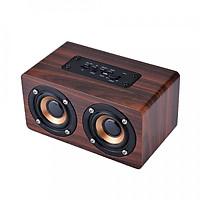 Loa gỗ bluetooth hifi super bass stereo speaker gắn thẻ nhớ g4