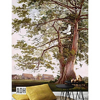 Tranh dán tường cây và nhà ADH181225-23