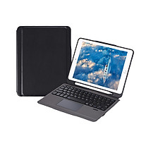 iPad Case with Wireless Keyboard Touch Pad Apple Pencil Holder for iPad Air2/iPad Pro 9.7/iPad 9.7(2017/2018) (Rose