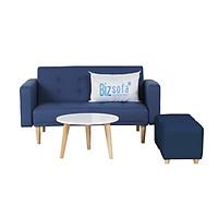 Trọn Bộ Sofa Phòng Khách Bizsofa - Bed - MLF-12 Mini - Xanh Dương