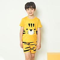 Bộ đồ ngắn tay mặc nhà cotton mịn cho bé trai U3011 - Unifriend Hàn Quốc, Cotton Organic