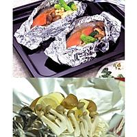 Combo Set 40 giấy thấm dầu mỡ đồ chiên rán + Màng nhôm bọc thực phẩm nội địa Nhật Bản
