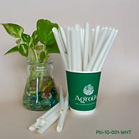 [AgroLife] Hộp 30 ống hút giấy sợi mía phi 10mm - Ống hút giấy từ sợi mía hoàn toàn từ thiên nhiên - An toàn cho người sử dụng. Màu trắng, đen, cam, sọc xám xiên có cắt xéo ống