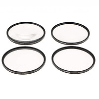 Close Up Macro Lens Filter Set Kit 58mm 67mm 77mm +1 +2 +4 +10 Flowers Insects Photography Comes with Storage Bag