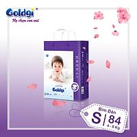 Bỉm dán GOLDGI+  Size S 84 miếng (cho trẻ từ 4-8kg)