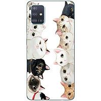 Ốp lưng dành cho Samsung A51 mẫu Các con mèo