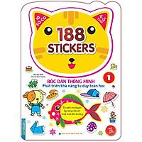 Bóc Dán Hình Thông Minh Phát Triển Khả Năng Tư Duy Toán Học IQ EQ CQ (4-5 Tuổi) -  188 Sticker (Quyển 1)