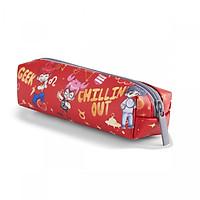 Bóp Viết Lớp Học Mật Ngữ HooHooHaHa Power Cylinder - Red (10.5 x 27.5 cm)