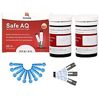 Que Thử Đường Huyết Safe AQ Smart 50 Que Thử + 50 Kim Chích Máu