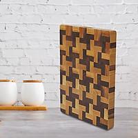 Thớt chữ nhật gỗ sồi óc chó (35x305x405)mm