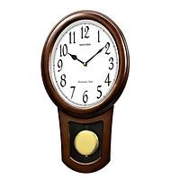 Đồng hồ treo tường RHYTHM SIP (Sound In Place) Wall Clocks CMJ576NR06 (Kích thước 29.1 x 51.9 x 10.0cm), Vỏ màu Nâu